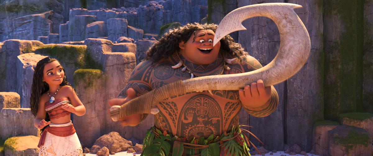 MOANA - (Pictured) Moana and Maui. ©2016 Disney. All Rights Reserved.