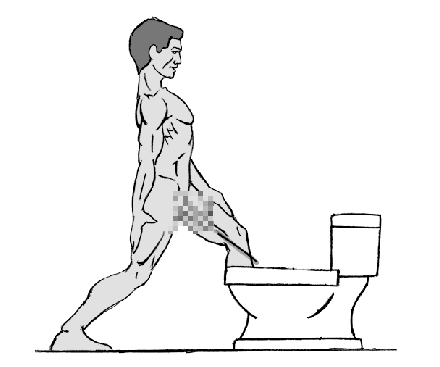 How to pee with a boner