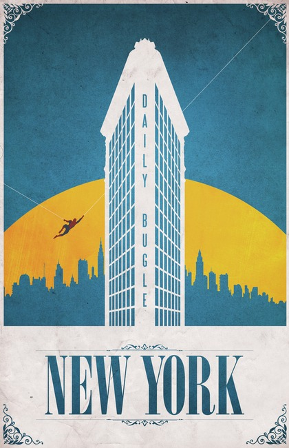 Vintage Travel Posters for Comic Book Cities
