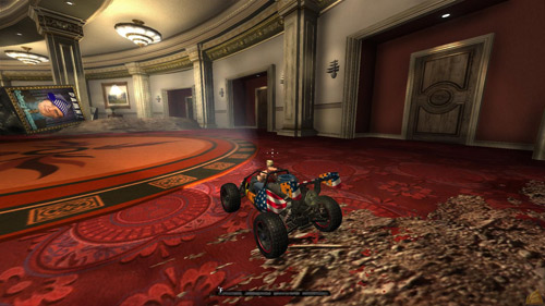 Driving a small car in Duke Nukem Forever -