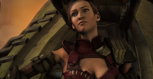 The love interest from Red Faction Armageddon