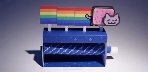 Make a Nyan Cat Papercraft Machine! | Onelargeprawn