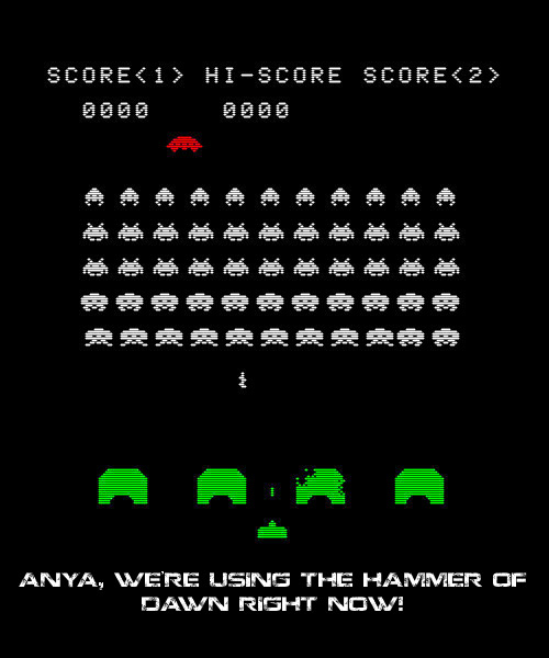 Gears of war? Space Invaders!