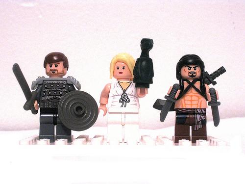 Daenerys, Jorah, and Drogo