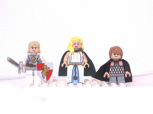 Jaime, Cersei, and Tyrion