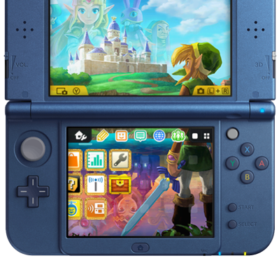 New Nintendo 3DS Home Menu Themed