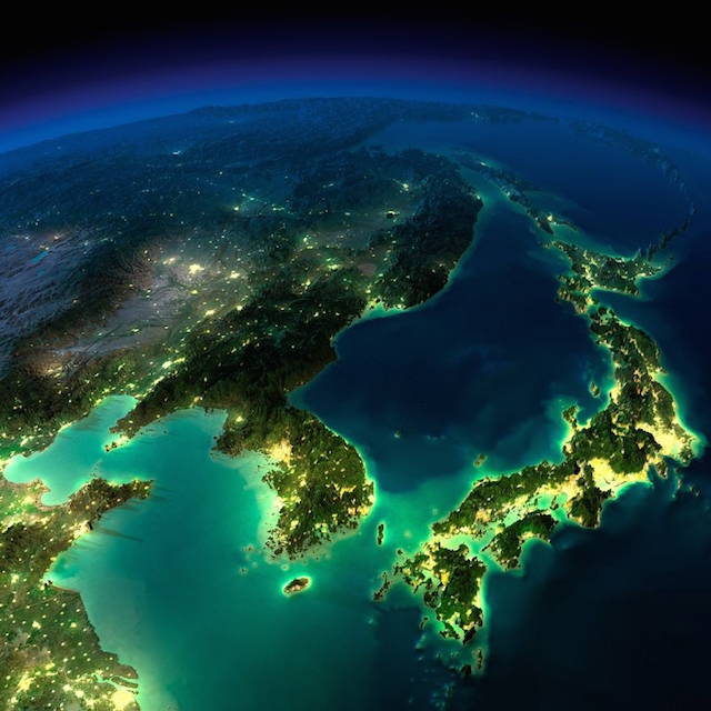 Eastern China, Korea, and Japan