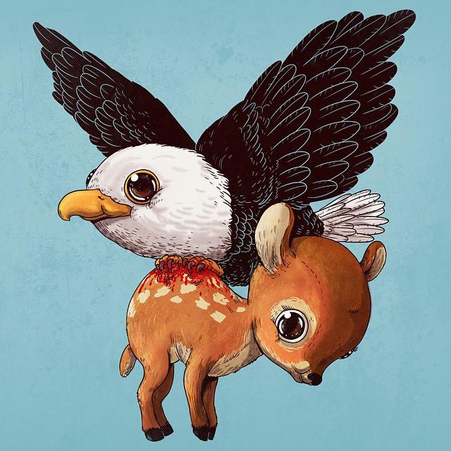 Eagle & Deer