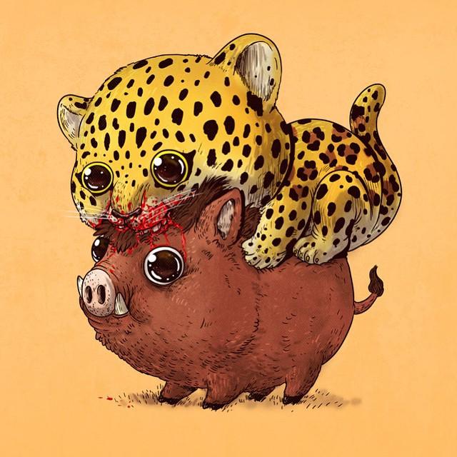 Leopard & Boar