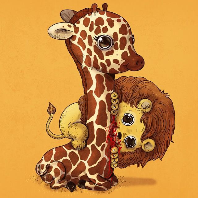 Lion & Giraffe