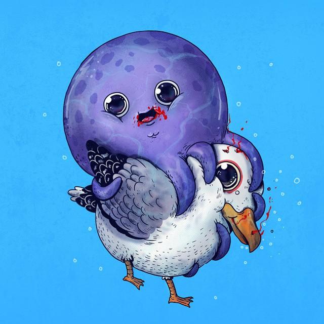 Octopus & Seagull