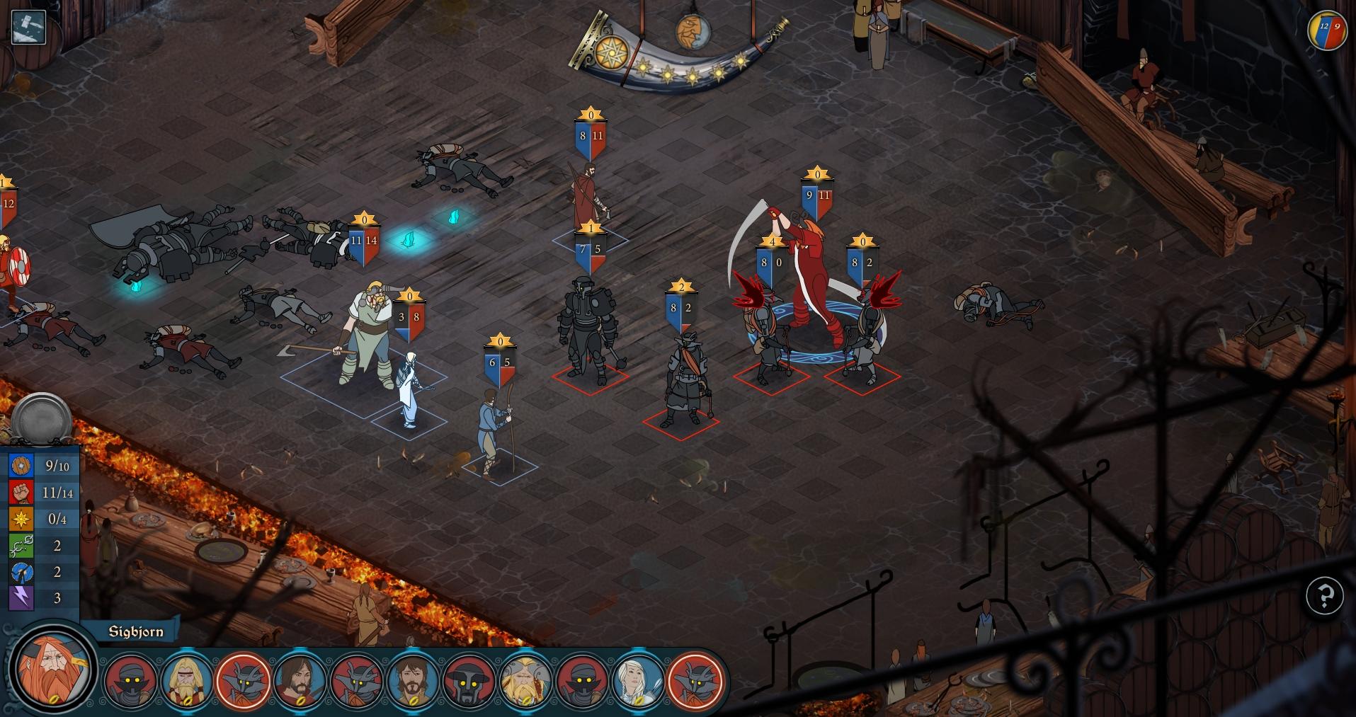 The Banner Saga: Battle Screen 1