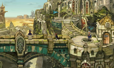 Bravely Second End Layer screenshot: town