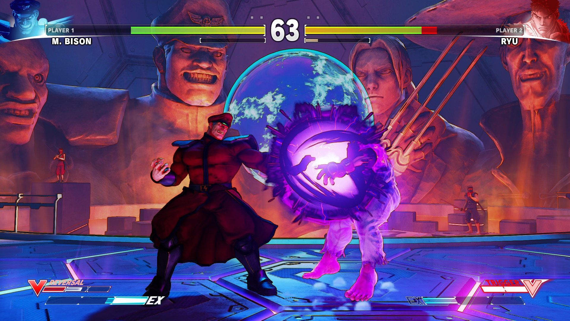 Street Fighter V Screenshot: M.Bison vs Ryu