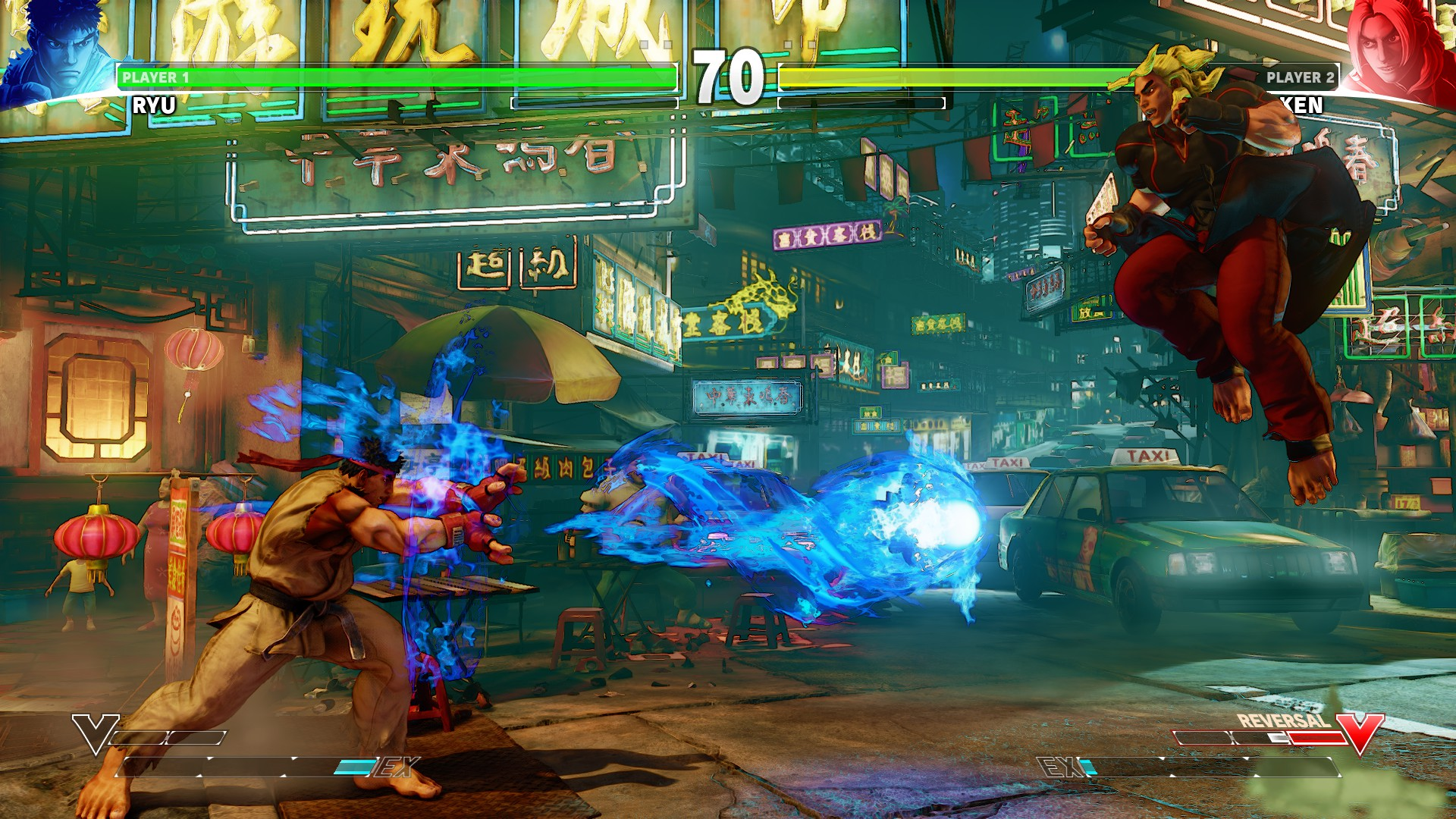 Street Fighter V Screenshot: Ryu vs Ken