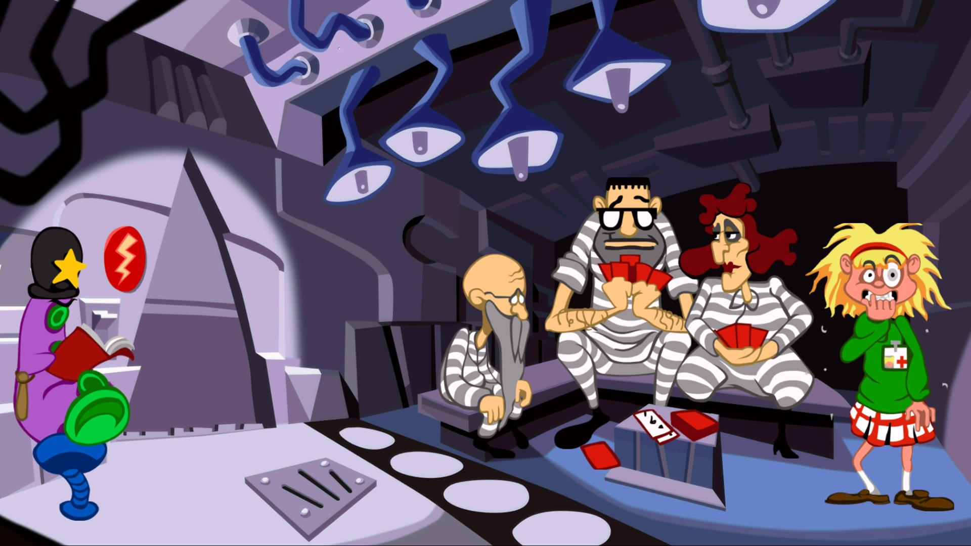 Day of the Tentacle HD Remaster screenshot: Laverne in jail
