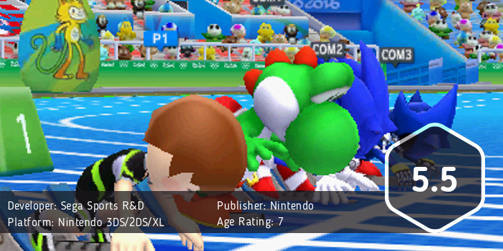 Mario & Sonic at the 2016 Olympic Games score: 5.5/10