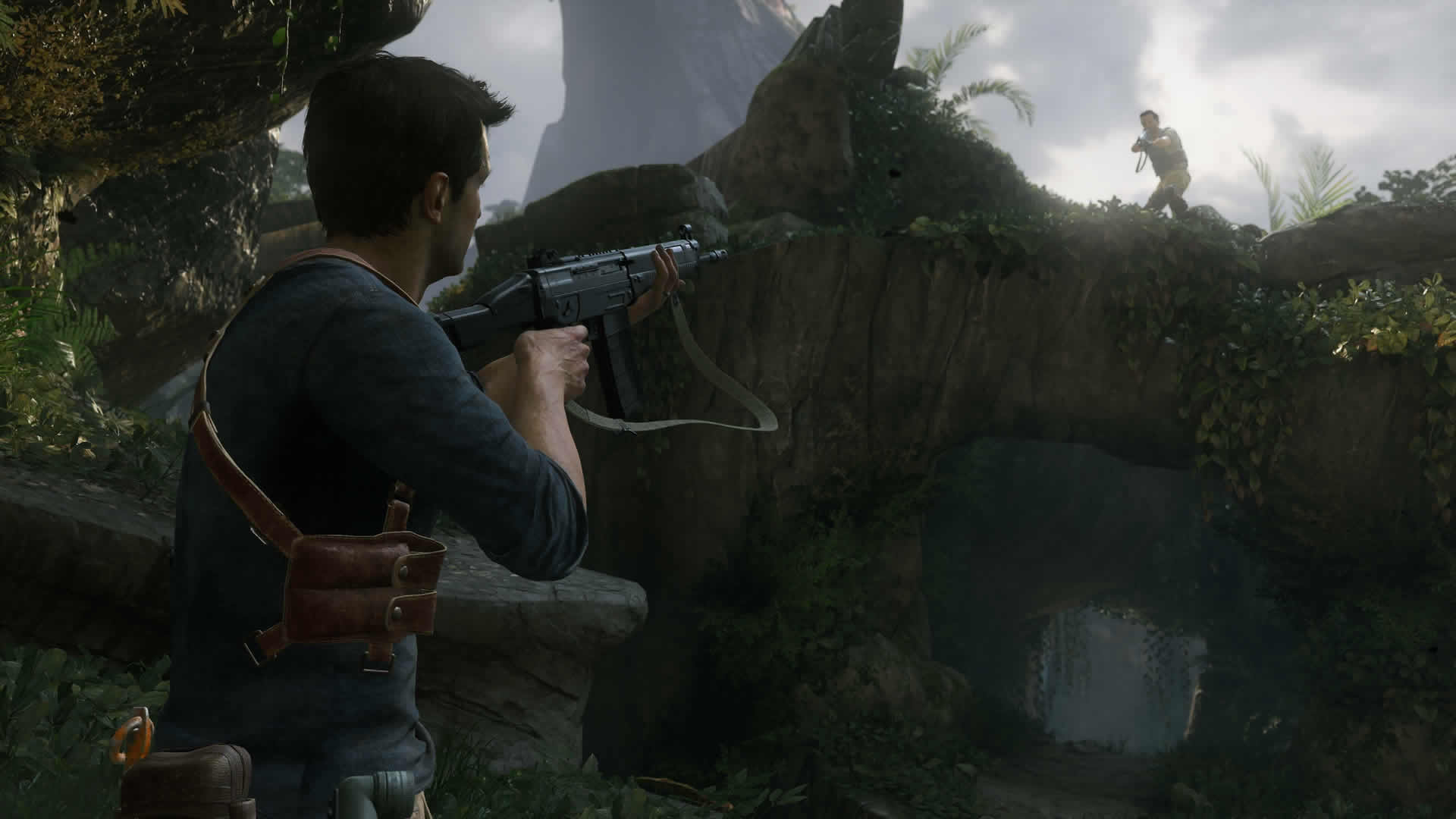 Uncharted 4 Drake aiming up